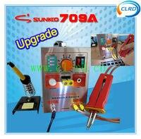 1 unit/lot Aggiornato 709A 2 in1 Posto Della Batteria Saldatore Mobile W/Penna di Saldatura Stazione Ferro 110/220 V battery pack per uso