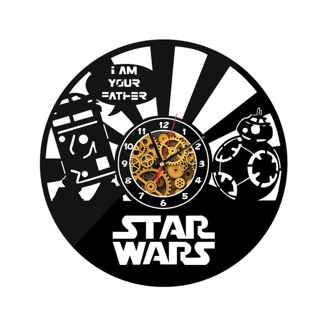 "New Star Wars Wall O'Clock ""im your father"""