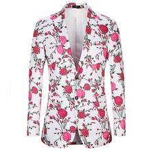 Marke Männer Blazer 2018 Muster Rose Blumendruck Casual Japan stil Big Size  Herren Anzug Jacke Slim f9875dbced