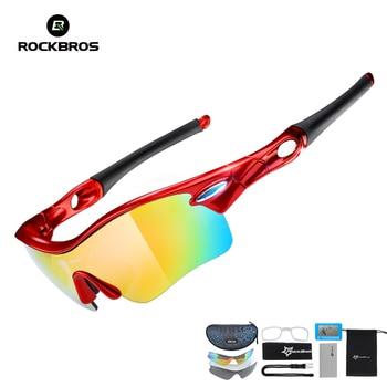 53317473f5 Gafas polarizadas ROCKBROS para ciclismo, gafas deportivas para deportes al  aire libre, gafas deportivas para hombre, gafas TR90, lentes 5, 3 colores
