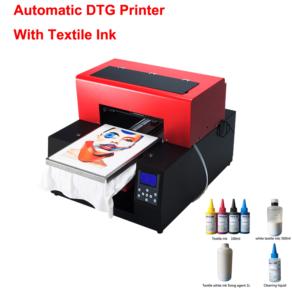 T-shirt Printer Flatbed Printer Multicolor fully automatic DTG Printer print on t shirt cloths printing machine with textile ink popular white t shirt flatbed printer dtg printer support white ink 5760 1440dpi