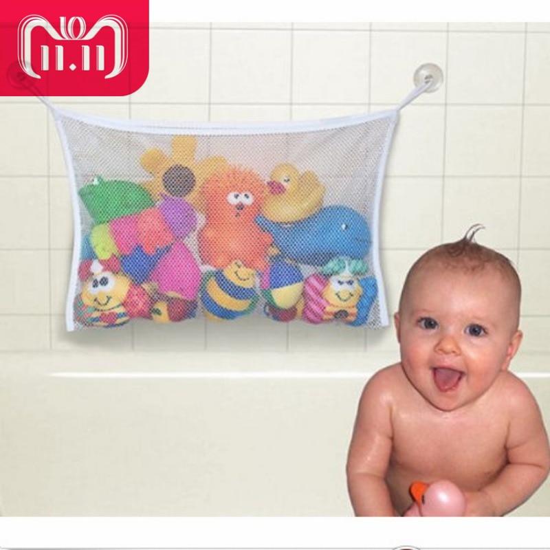 Baby Toy Mesh Bag Bath Bathtub Doll Organizer Suction Bathroom Bath Toy Stuff Net
