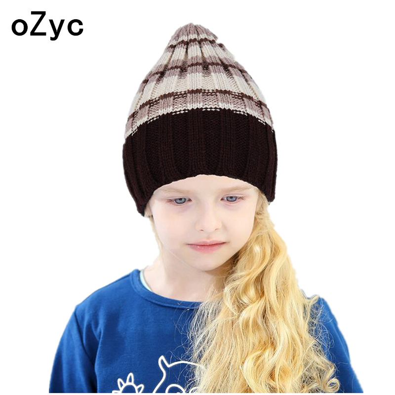 2017 new arrival baby hats child spring bow ear caps sleeve head girls warm wool knit hat solid color kids beanies accessories