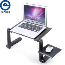 Portátil dobrável mesa do portátil ajustável suporte do portátil mesa sofá cama bandeja computador notebook mesa com mouse pad