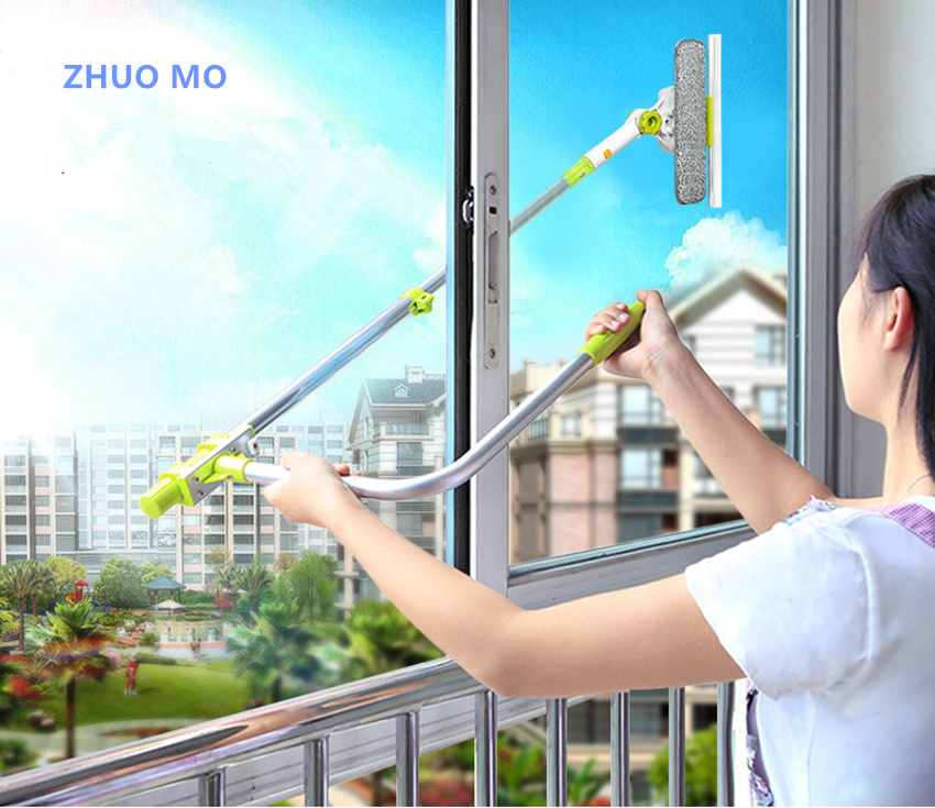 Hot Upgraded Telescopic High-rise Window Cleaning Glass Cleaner Brush For Washing Window Dust Brush Household cleaning tools ...