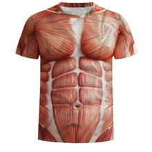 065f0bd0 Men Compression Shirts Fitness 3d T Shirts Bodybuilding Simulated muscle T  shirt Men GYMS T-