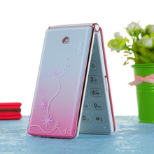 MAFAM Flip Cute Mobile Phones 2.6 Inch Screen Dual Sim Cards  LED Flashlight With Marquee Big Battery Girls Women Cellphone P073