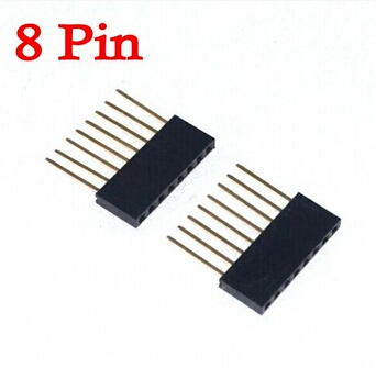 50pcs/lot Special Female Header Connector PC104 2.54mm Spacing 1*8/8P Pin Long 11mm For Arduino