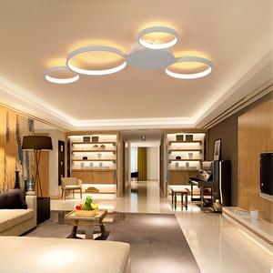 Image 3 - Kawa lub białe wykończenie nowoczesny żyrandol sufitowy Led światła do salonu Master Room AC85 265V Led żyrandol lampy