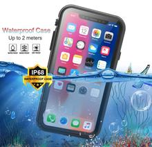 New Outdoors IP68 Waterproof shockproof Phone Case For iPhoneXs Max XR Coque Diving Anti-knock iPhoneX Underwater Stand