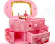 Valentine's day gift music boxes, cosmetic mirror music box of fashionable Jewelry boxes b40422