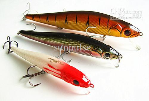 11cm 14.5g Floating Type Fishing Tackle Casting Sea Lure Minnow Bait Artificial Bait Plastic Lure China Hook Ten Color Choose