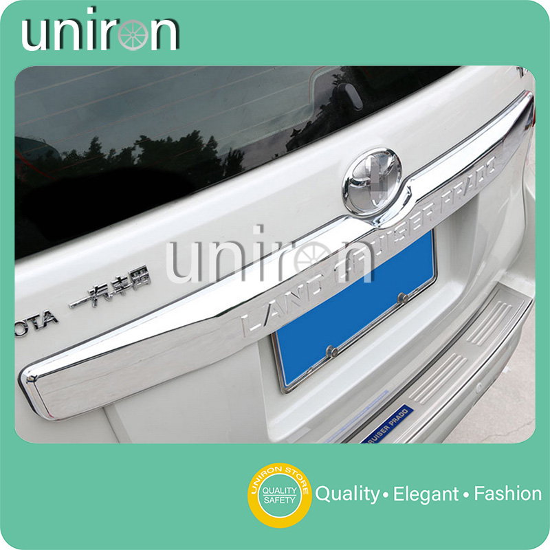 Uniron Exterior Accessories Rear Tailgate Trunk Lid Trim Cover ABS Chrome Decoration for TOYOTA Prado Land Cruiser FJ150 FJ 150