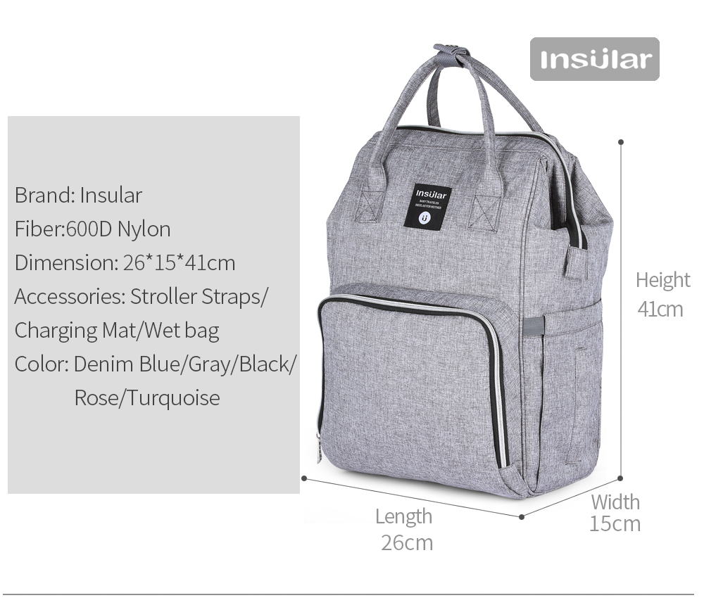 HTB18pU9cRKw3KVjSZTEq6AuRpXau Insular Brand Nappy Backpack Bag Mummy Large Capacity Stroller Bag Mom Baby Multi-function Waterproof Outdoor Travel Diaper Bags