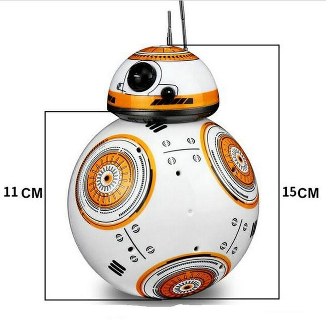 Star Wars RC BB-8 Robot Star Wars 2.4G remote control BB8 robot intelligent small ball Action Figure Toys Christmas Gift (12)