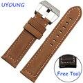 Para samsung gear clássico s3/forntier inteligente pulseira 22mm genuínos faixas de relógio de couro pulseira de couro de substituição