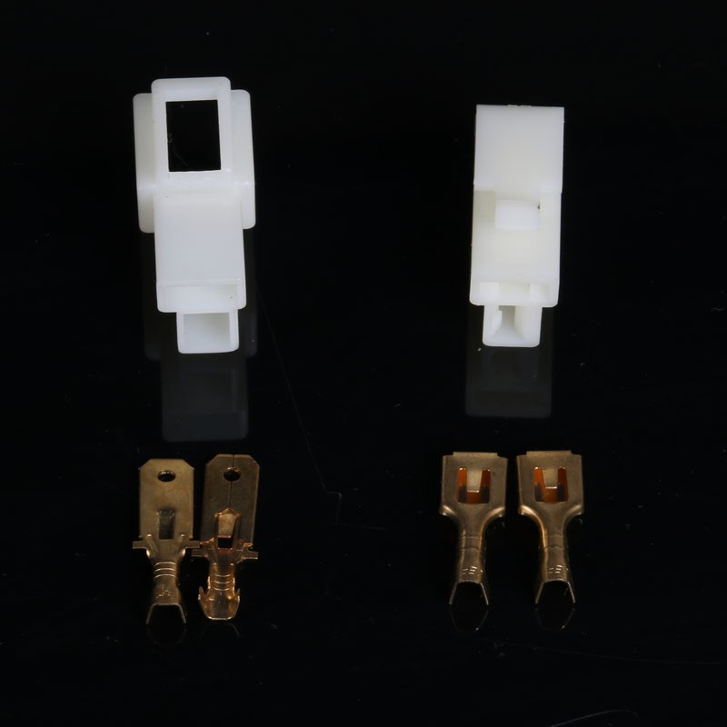 10 sets 6,3mm 2 wege/pin Elektrische automotive kabelverbinder ...