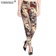 New 2015 spring national Ethnic style Retro graffiti  paintings Printing flowers trousers printed High elasticity leggings