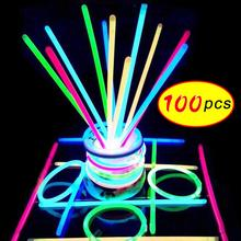 100PCS Party Fun Fluorescence Light Glow Sticks Bracelets Ne