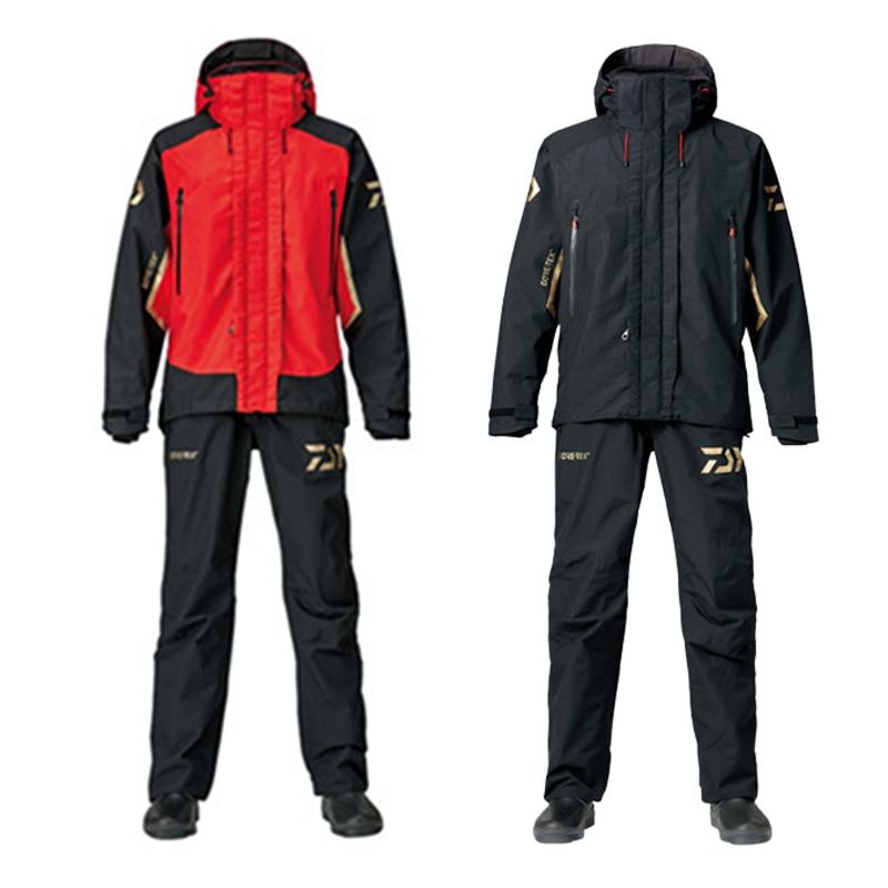 1 Set invierno Daiwa conjuntos de ropa de pesca Hombre Ropa deportiva al aire libre traje Cálido impermeable pantalones de camisa de pesca