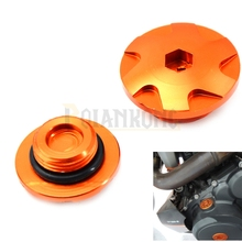 цена на CNC Motorcycle Accessories  Engine Protect Plug Cover Side for KTM Engine lgntion Cover Plug for KTM DUKE 390 DUKE200