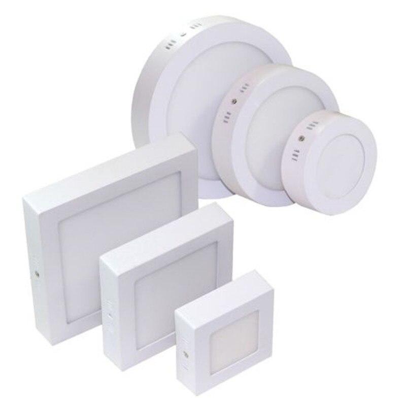 Oberfläche Montiert Led-deckenleuchte 9 watt 15 watt 25 watt Panel Lampe Warm/Natural/Kalt Weiß AC85-265V runde Platz LED Spot Licht für Home