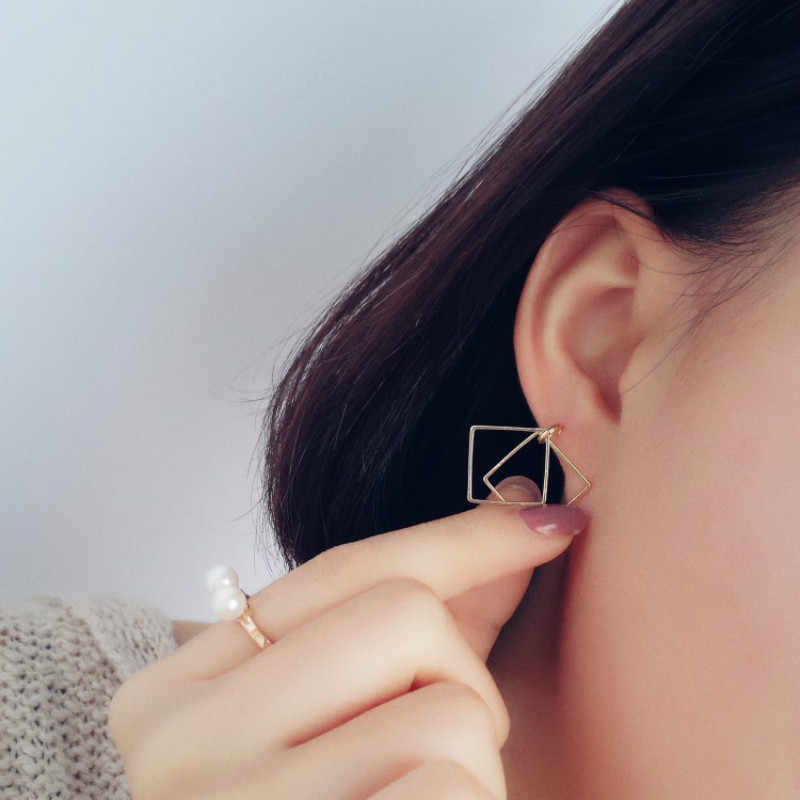 Fashion Earring Jewelry  Retro Earrings Minimalist Geometric Pierced Earrings Wholesale Jewelry Box Women Gift Brincos