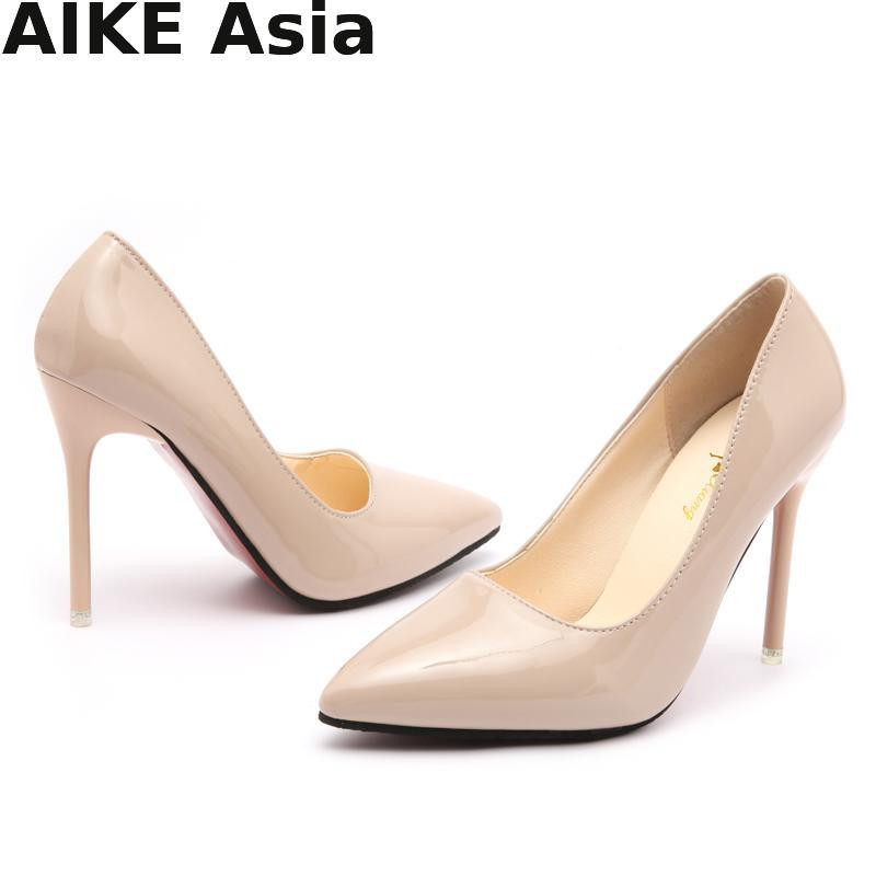 HOT Promotions Women Pumps Spring/Autumn High Heels Pointed Toe Female Wedding Shoes Sexy High Heel Shoes For Women  #9588