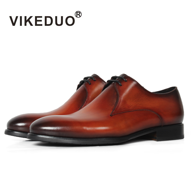 Vikeduo Handmade Classic Men Snow Shoe Luxury Lace-up Designer Wedding Party Dress Shoe Male Genuine Leather Mens Derby Shoes mens oxford shoes genuine leather custom made lace up men classic designer dress brogue shoes platform wedding shoes men