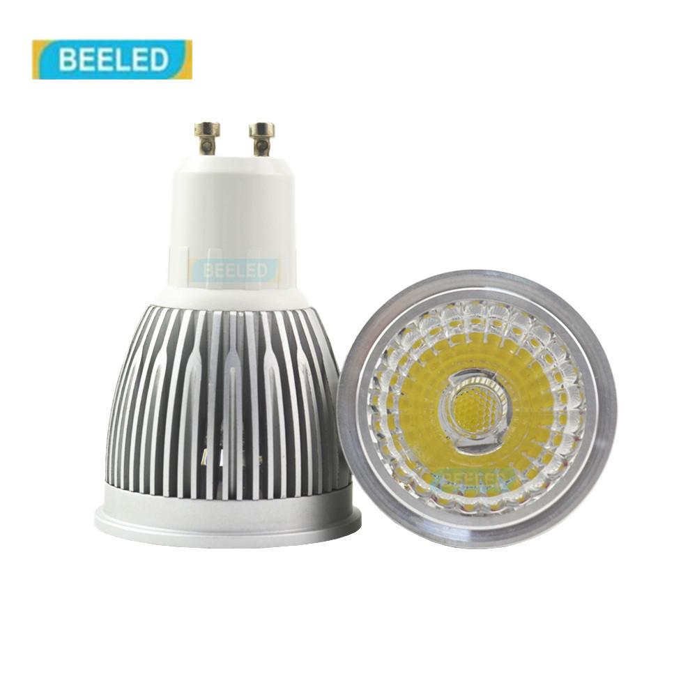 110V 220V 3W 5W 7W COB GU10 LED Bulb Light  Dimmable Led Spotlights Warm/Natural/Cool White GU10 LED lamp bulb Gold body silver 5w 7w cob led e27 cob ac100 240v led glass cup light bulb led spot light bulb lamp white warm white nature white bulb lamp