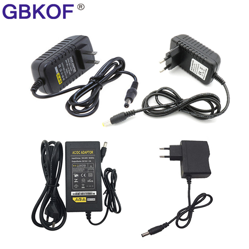 AC 100V - 240V to DC <font><b>12V</b></font> 1A 2A 3A <font><b>4A</b></font> 5A 6A 8A lighting transformers <font><b>Power</b></font> Supply <font><b>Adapter</b></font> Converter Charger For LED Strip light image