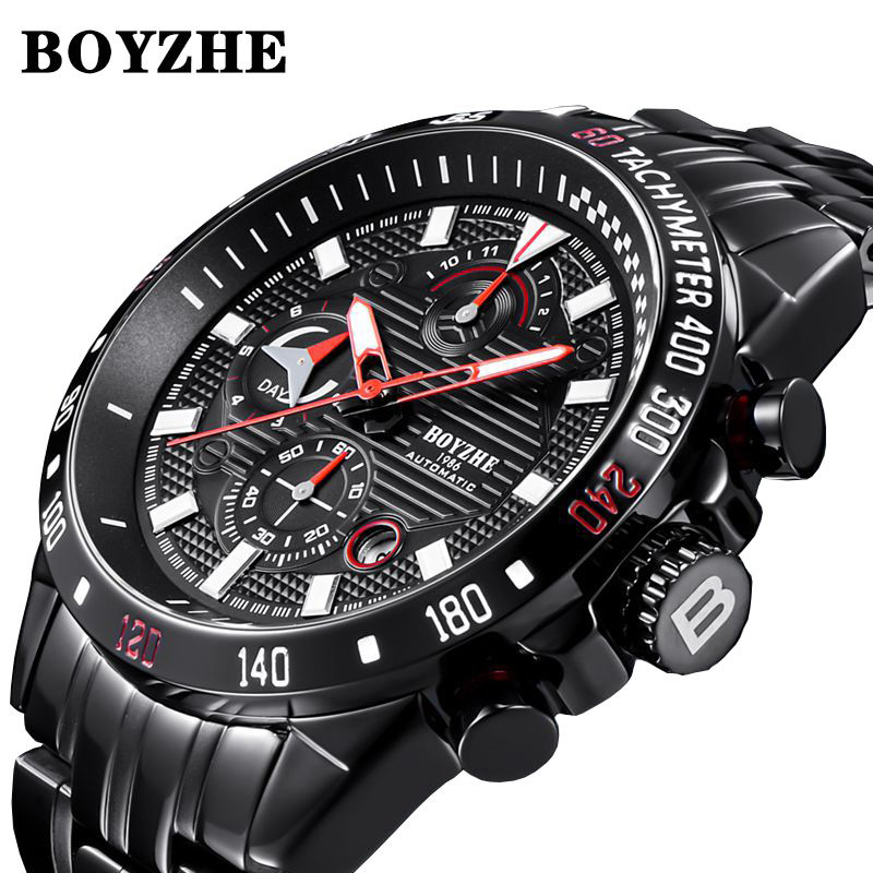 Watches Men Automatic Mechanical Watch Mens Fashion Top Brand Luxury Sport Watch Stainless Steel Wristwatch Relogio Masculino