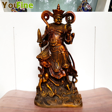 Pure copper Buddhist Buddha sculpture boutique ancient four kings four war god samurai sculpture offering ornaments pure copper tri port and four ports vertical style gas hancock