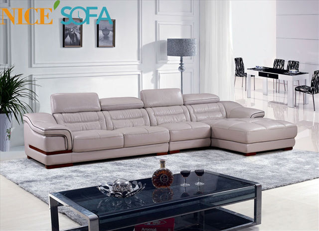 Fella design sofa leather sofa sale A827L#-in Living Room Sofas from ...