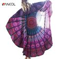 Hippie Tapestry Beach Scarf Chiffon Scarfs Multi-function Fall Female Lady Scarf Bohemia Style Round Towel Toalla Playa Mandala