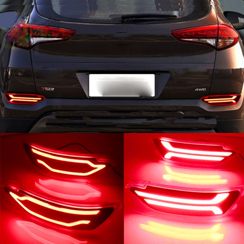 castaleca Multi-function Rear Fog Lamp Brake Light LED Rear Bumper Turn Signal Reflector Red two styles for 2015 2016 robotale r 2560 r3 module compatible w official arduino mega 2560 r3 deep blue