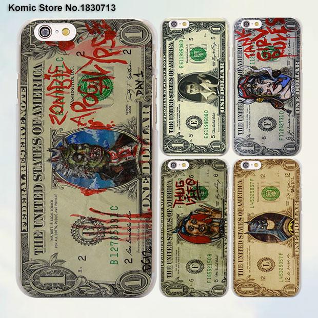 Косплей доллар США Бэтмен чудо-женщина дизайн, прозрачный Чехол чехол для Apple iPhone 6 6S плюс 7 7 Plus SE 5 5S 4S 5C