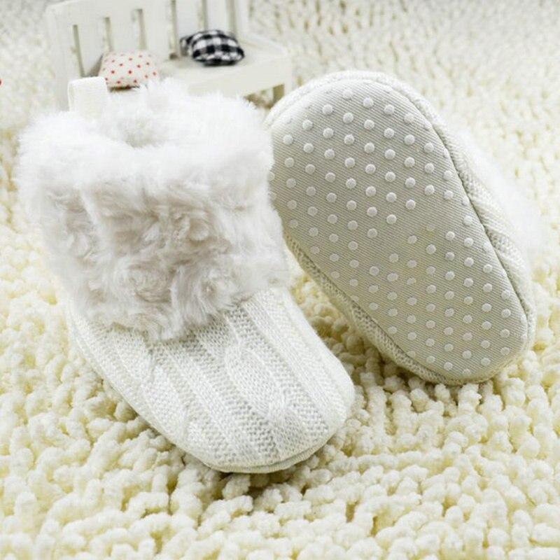 Warm Prewalker Boots Toddler Girl Boy Crochet Knit Fleece Boot Wool Snow Crib Shoes Winter Booties