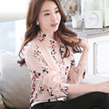 New 2017 Spring Summer Floral Print Shirt Women's Long Sleeve Fashion Chiffon Blouses Tops Blusas Femininas