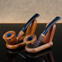 Gift Set Multi Choice Small Smoking Pipe 3mm Filter Bent Briar Wood Pipe Portable Briar Tobacco Pipe Smoking Accessory Free