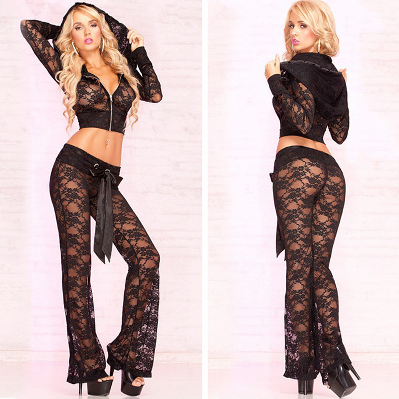 2017 Erotic Lingerie Fashion Temptation Openwork Lace Points Nightclub Bar Ds Lead Dancer Costumes Jazz Dance Clothes