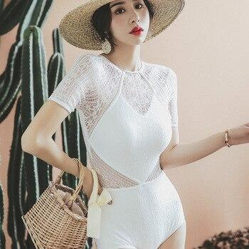 Trendiges Einteiler | Frauen Badeanzüge Triquinis Schwimmen Anzug Push-Up Lady Trendy Bademode Kleidung Trikini Vintage Badeanzug Sommer Einteilige Bade