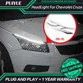 PUIYUE Car styling Freeshipping 9600Lm For 2009-2015 Chevrolet Cruze Car Headlight  Angel Eyes LED Eyebrow Daytime Running Light