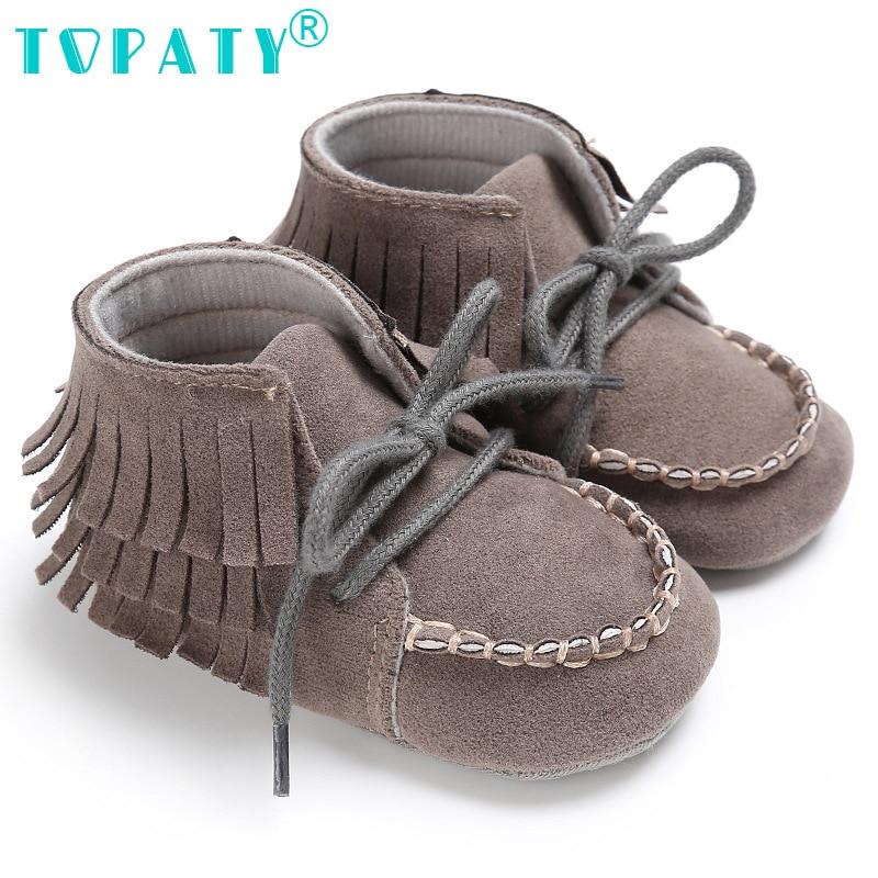 Для новорожденных Обувь для девочек Обувь для мальчиков обувь на шнурках, ботинки на шнуровке детей Fringe пинетки зима младенческой Обувь для...