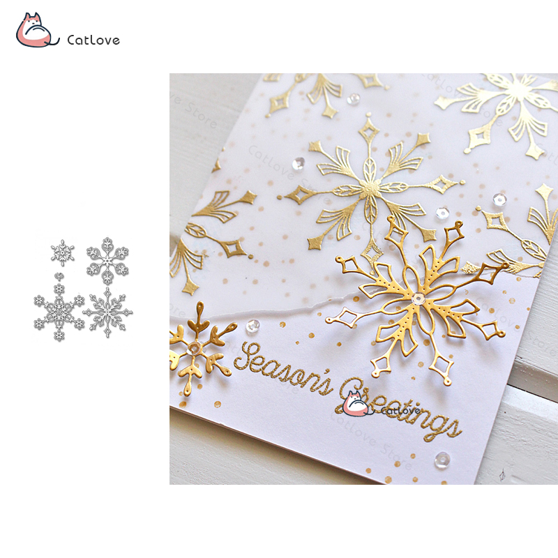 Cutting Dies Arts,crafts & Sewing Merry Christmas Snowflake Metal Cutting Dies Carbon Steel Die Scrapbooking Decor Diy Invitation Cards Dies Stencil New 2019