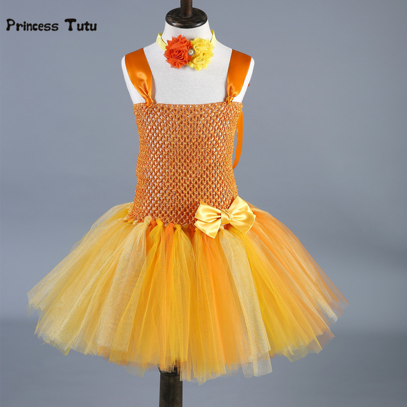 Toddler Baby Girls Tutu Dress Kids Party Birthday Easter Dress Tulle Princess Ball Gown Halloween Costume Children Clothing 0-8Y