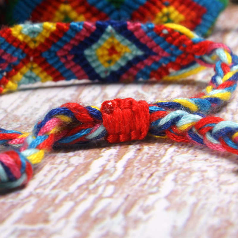 Moon Girl artystyczny przyjaźń splot Wrap Charm bransoletka kobiety moda Boho ręcznie robione elegancki dziewczyna joga Pulseras Femme Dropshipping