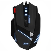Zelotes T60 Wired Gaming Mouse 7200 DPI 7Buttons Computer Mouse Optical USB Computer LED Mice for PC Laptop Free shipping