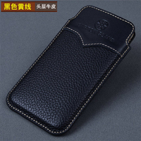 2018 Fashion Phone Case Luxury Handmade Genuine Leather Phone Pouch Sleeve For Xiaomi Redmi Note 4x