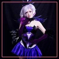 Game LOL LUX Cosplay Costume Women Hero Dark Version Star Guardian Cosplay Magical Girl Costume For Women Halloween